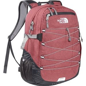 northface teaberry pink heather borealis backpack